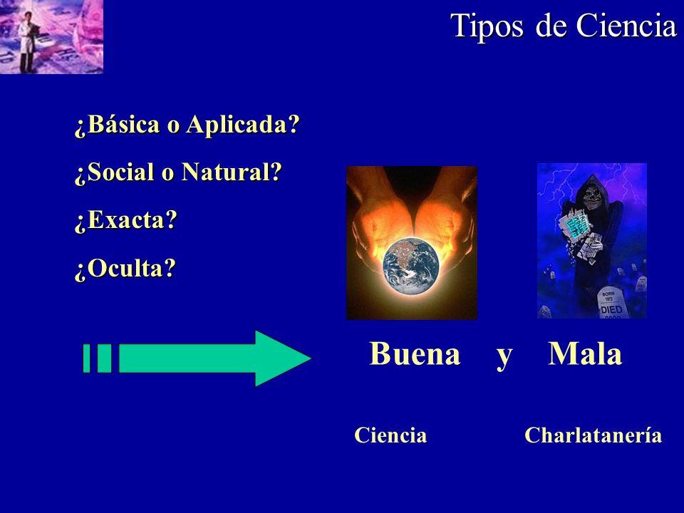 Tipos de Ciencia Buena y Mala ¿Básica o Aplicada ¿Social o Natural