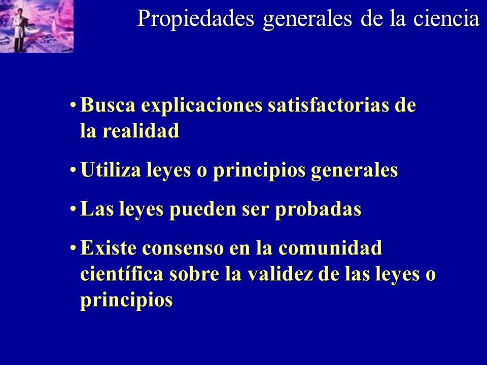 Propiedades generales de la ciencia