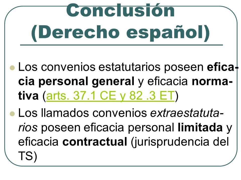 Conclusión (Derecho español)