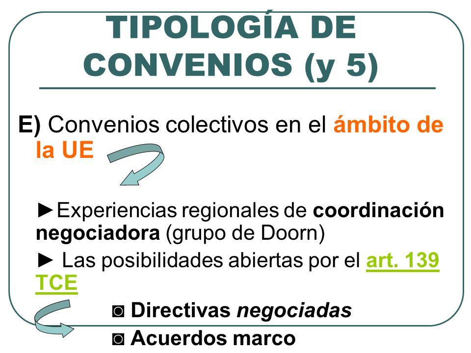 TIPOLOGÍA DE CONVENIOS (y 5)
