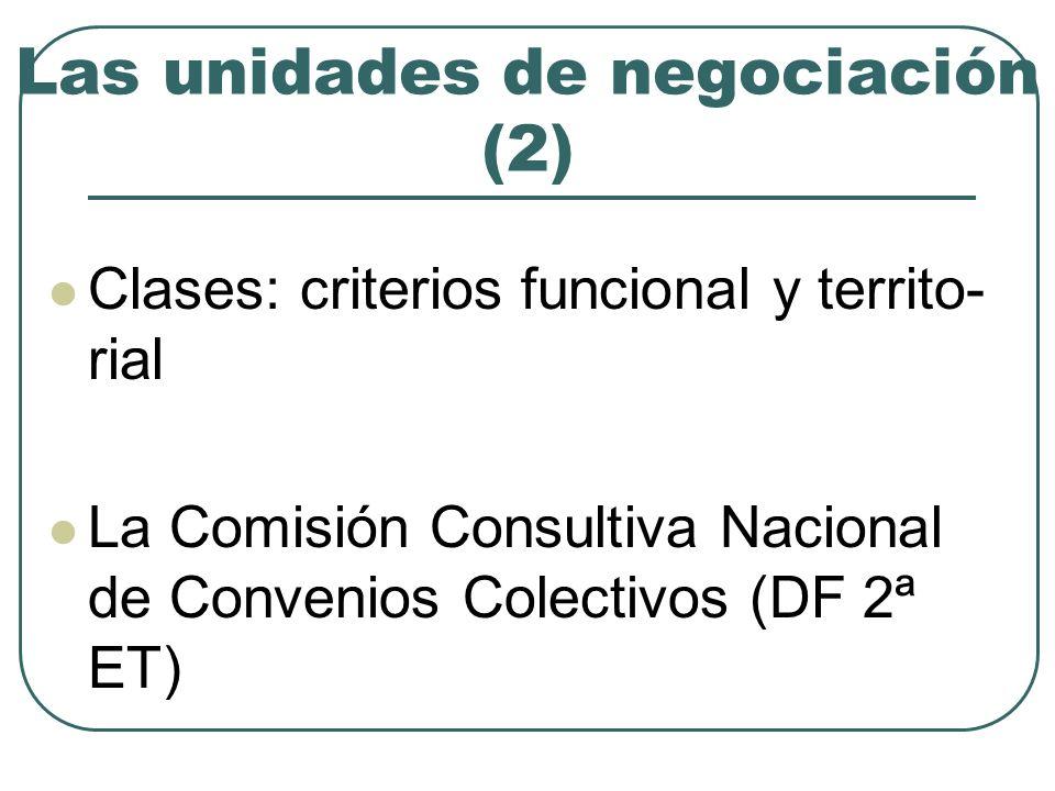 Las unidades de negociación (2)