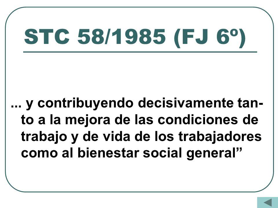 STC 58/1985 (FJ 6º)