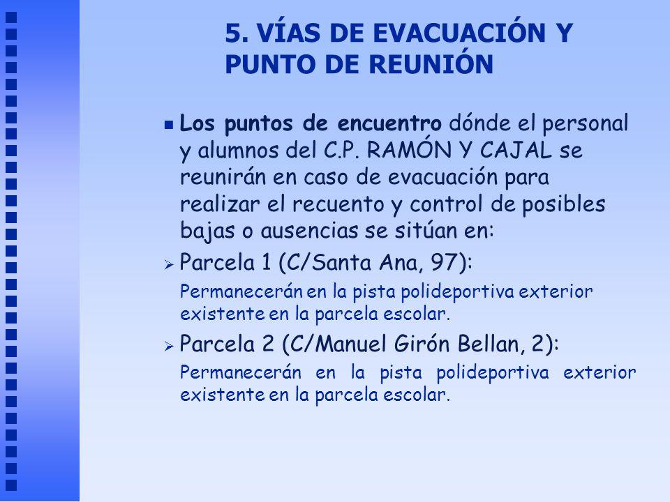 5. VÍAS DE EVACUACIÓN Y PUNTO DE REUNIÓN