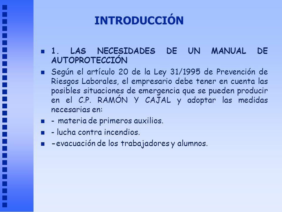 INTRODUCCIÓN 1. LAS NECESIDADES DE UN MANUAL DE AUTOPROTECCIÓN