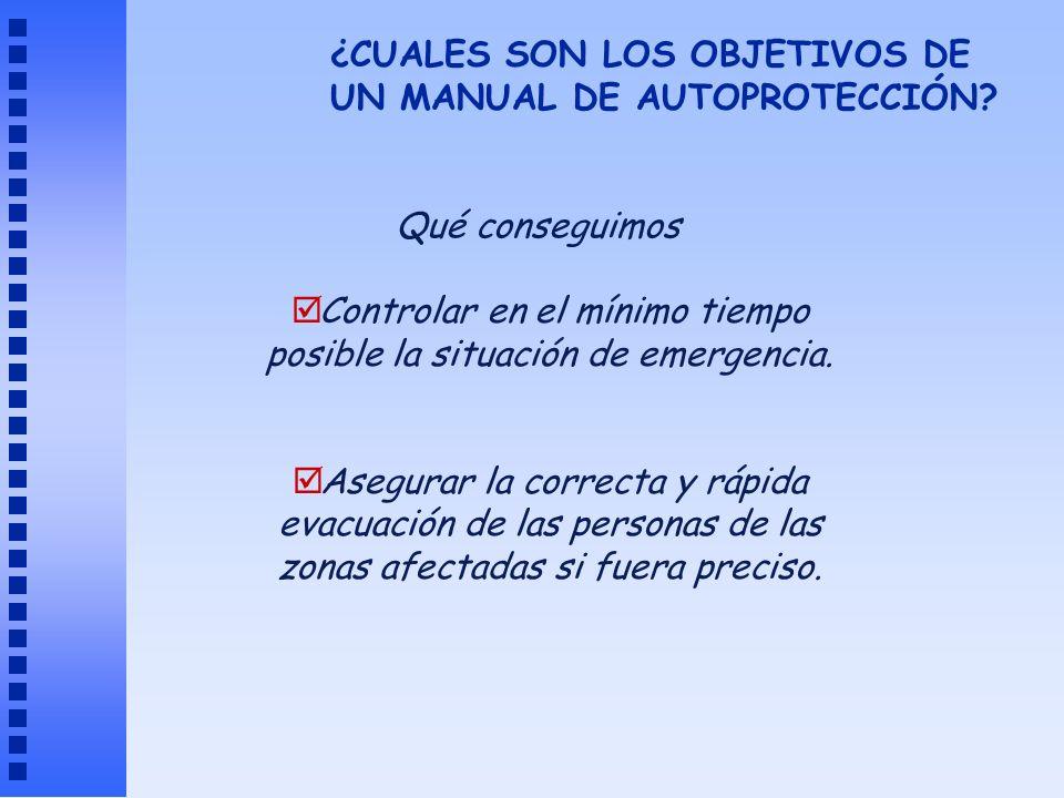 Controlar en el mínimo tiempo posible la situación de emergencia.