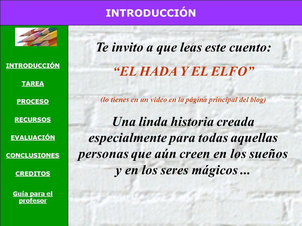Te invito a que leas este cuento: EL HADA Y EL ELFO