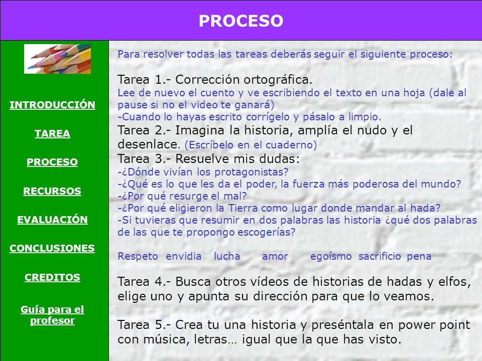 PROCESO Tarea 1.- Corrección ortográfica.