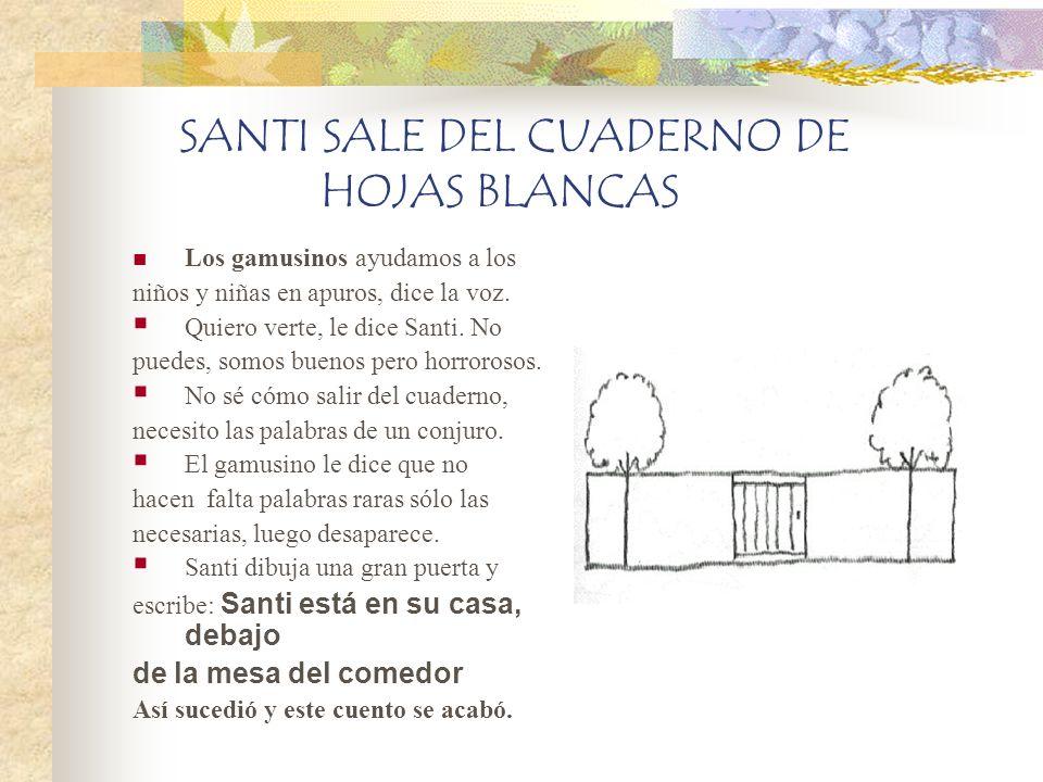 SANTI SALE DEL CUADERNO DE HOJAS BLANCAS