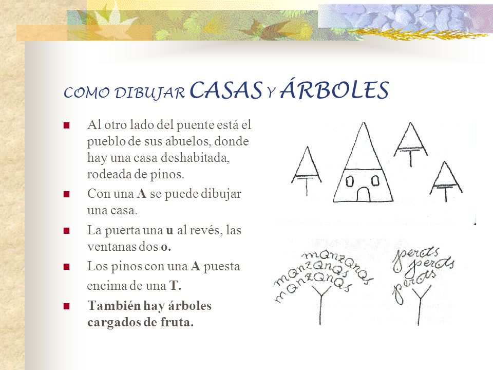 COMO DIBUJAR CASAS Y ÁRBOLES