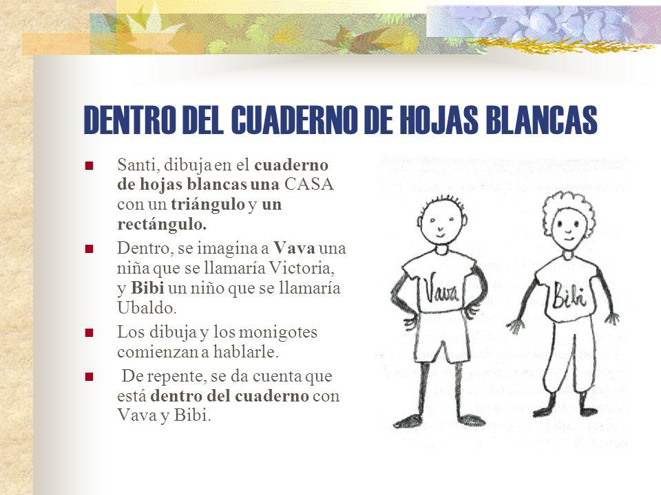 DENTRO DEL CUADERNO DE HOJAS BLANCAS