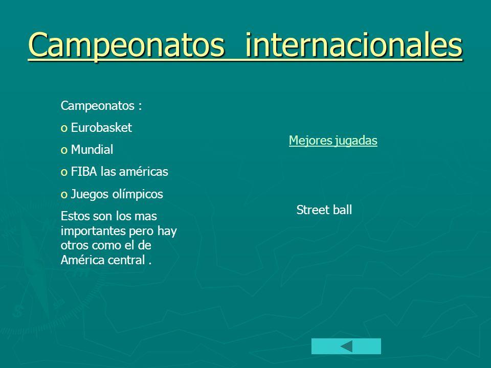 Campeonatos internacionales