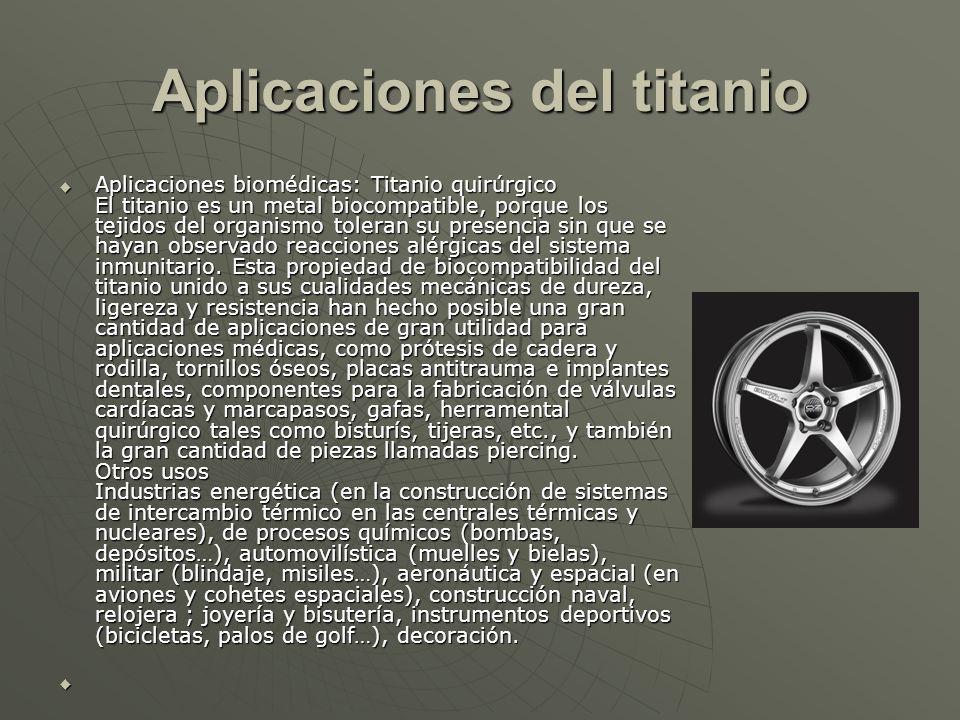 Aplicaciones del titanio