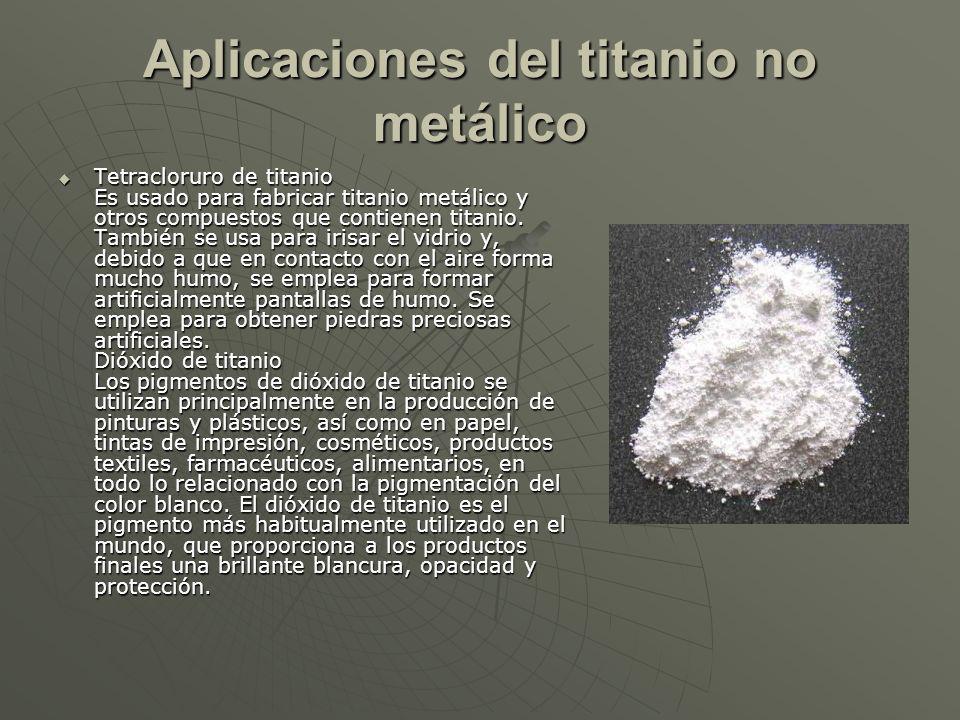Aplicaciones del titanio no metálico