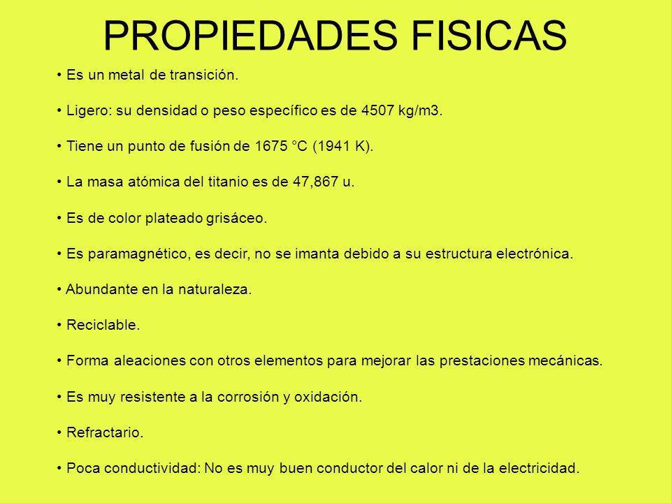 PROPIEDADES FISICAS Es un metal de transición.