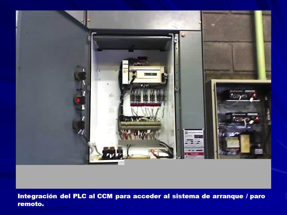 Integración del PLC al CCM para acceder al sistema de arranque / paro