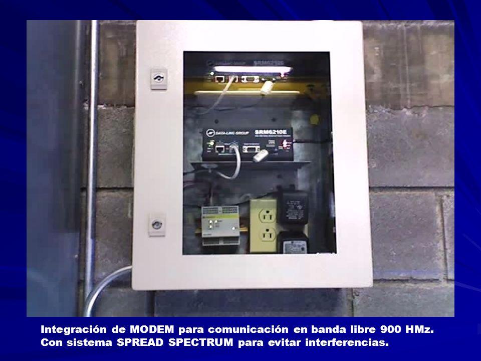 Integración de MODEM para comunicación en banda libre 900 HMz.