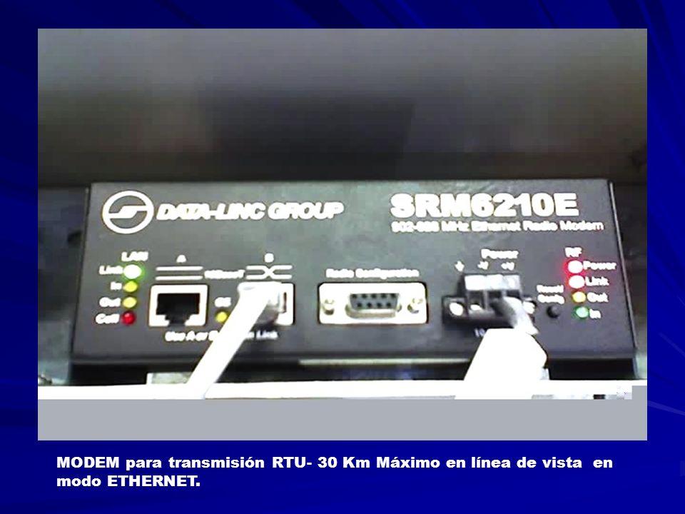 MODEM para transmisión RTU- 30 Km Máximo en línea de vista en