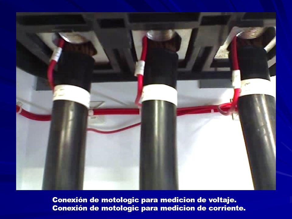 Conexión de motologic para medicion de voltaje.