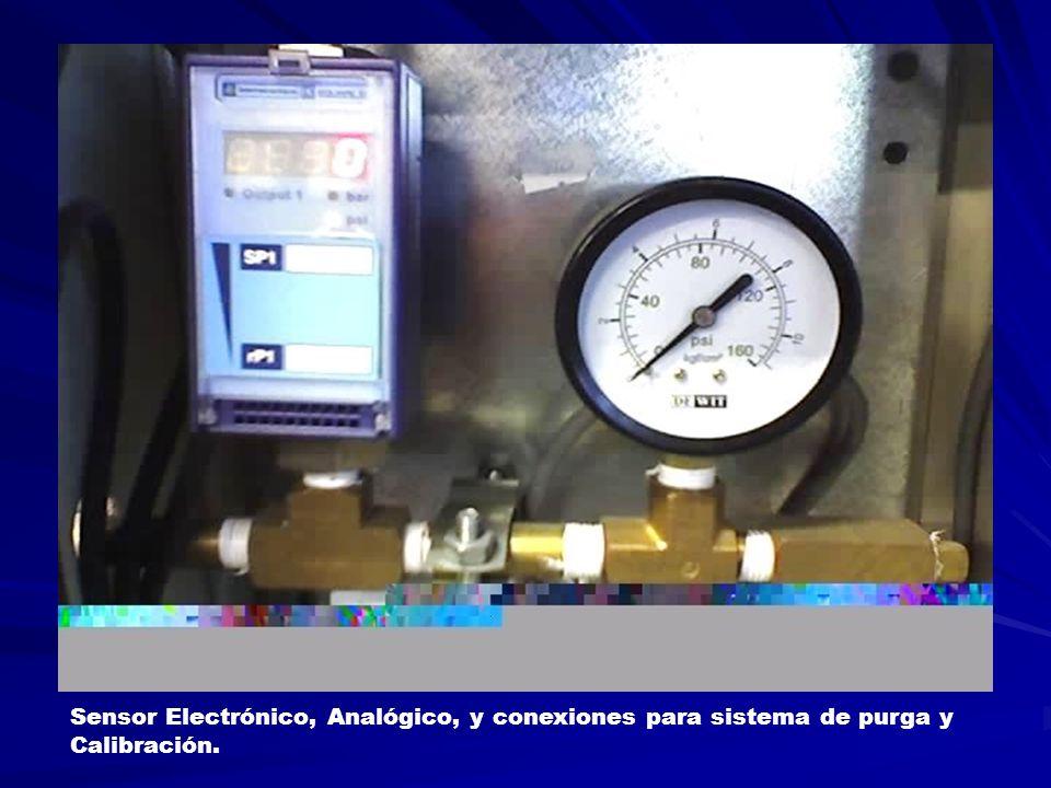 Sensor Electrónico, Analógico, y conexiones para sistema de purga y