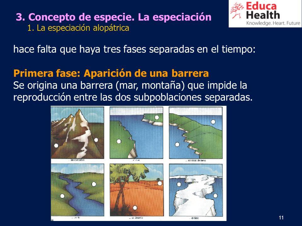3. Concepto de especie. La especiación
