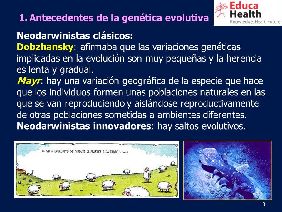 Antecedentes de la genética evolutiva
