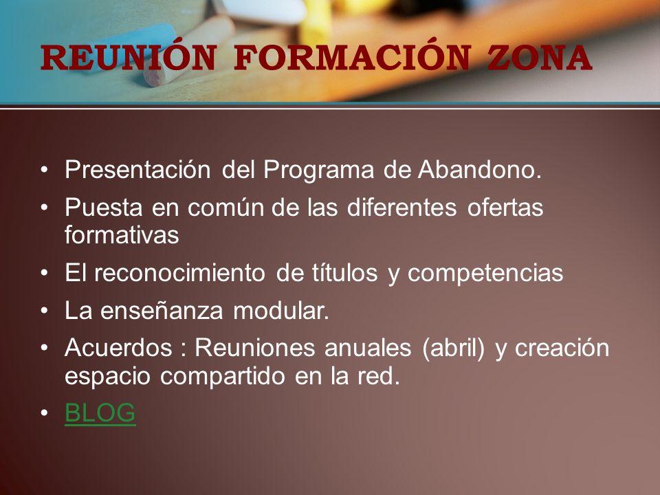 REUNIÓN FORMACIÓN ZONA