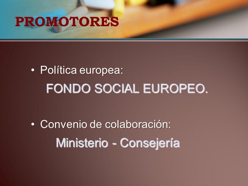 PROMOTORES Ministerio - Consejería Política europea: