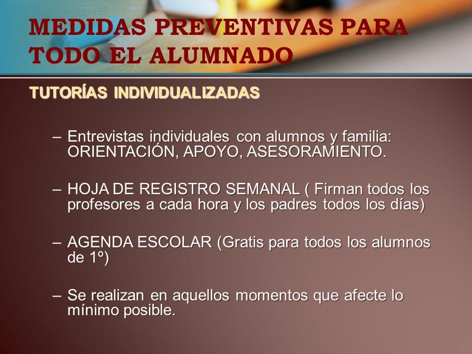 MEDIDAS PREVENTIVAS PARA TODO EL ALUMNADO