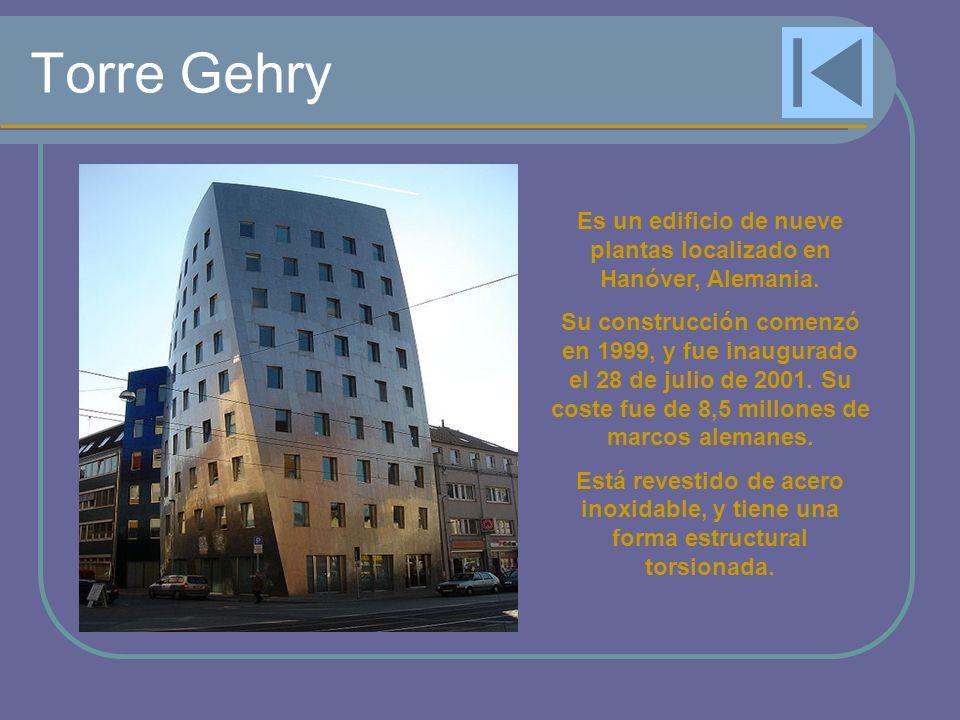Es un edificio de nueve plantas localizado en Hanóver, Alemania.