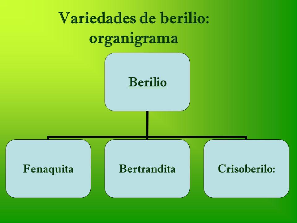 Variedades de berilio: organigrama