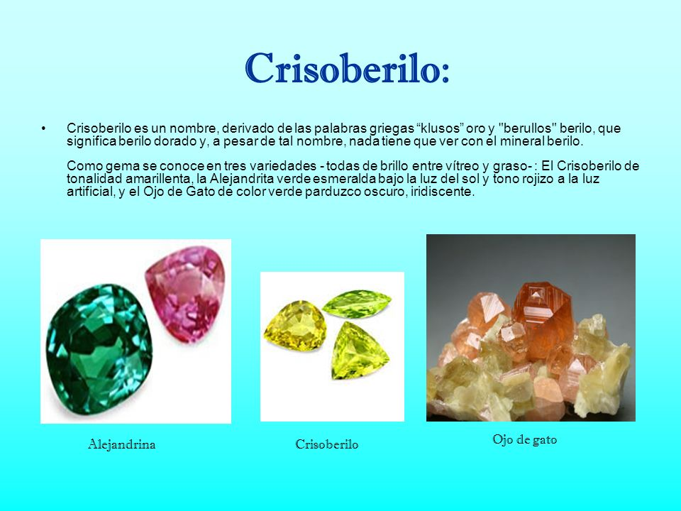 Crisoberilo: