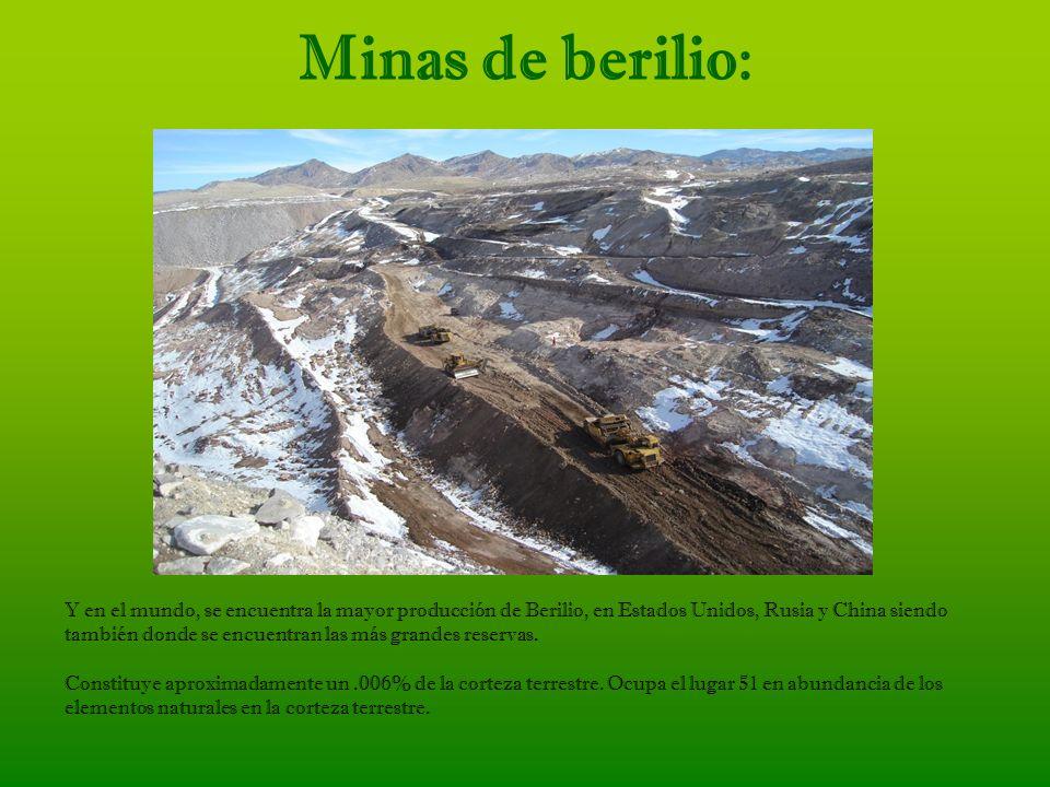 Minas de berilio: