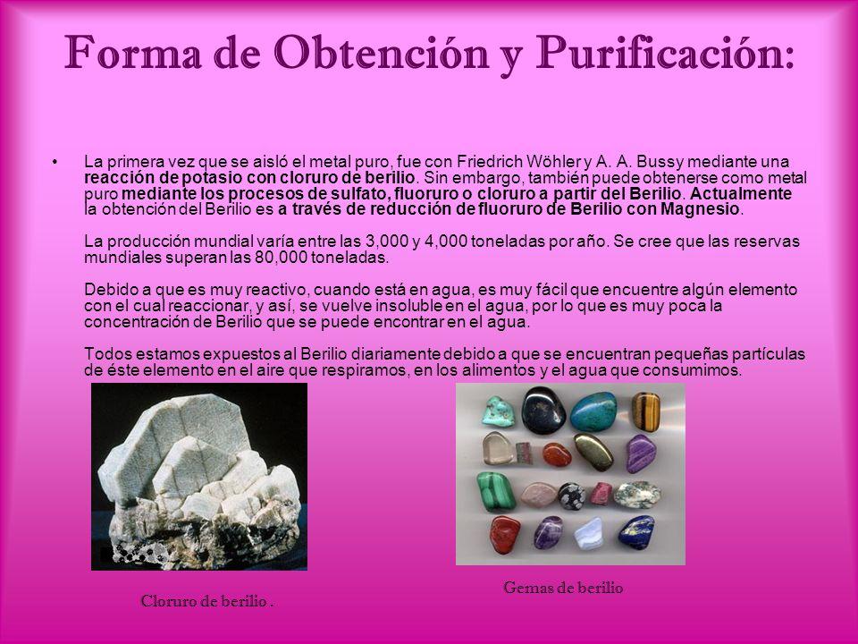 Forma de Obtención y Purificación: