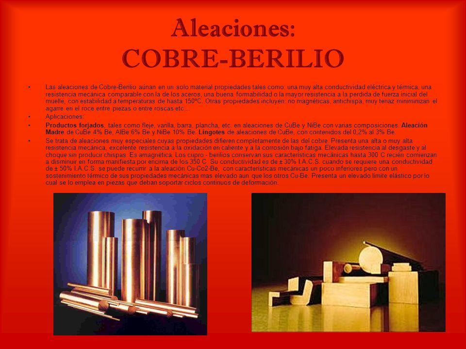 Aleaciones: COBRE-BERILIO