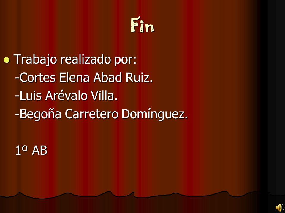 Fin Trabajo realizado por: -Cortes Elena Abad Ruiz.