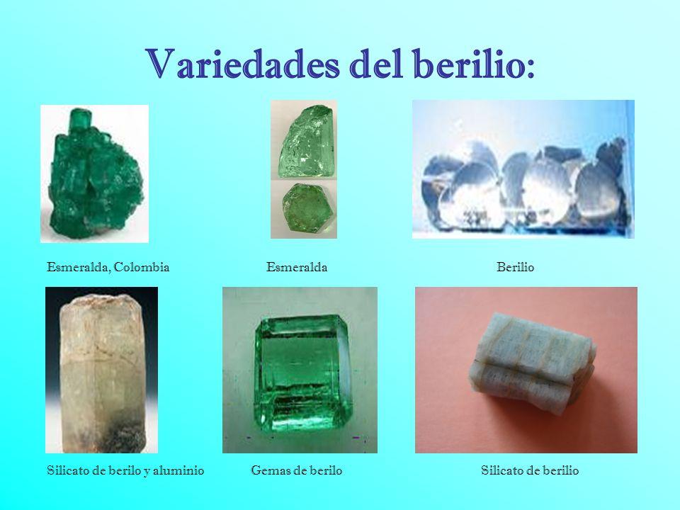 Variedades del berilio: