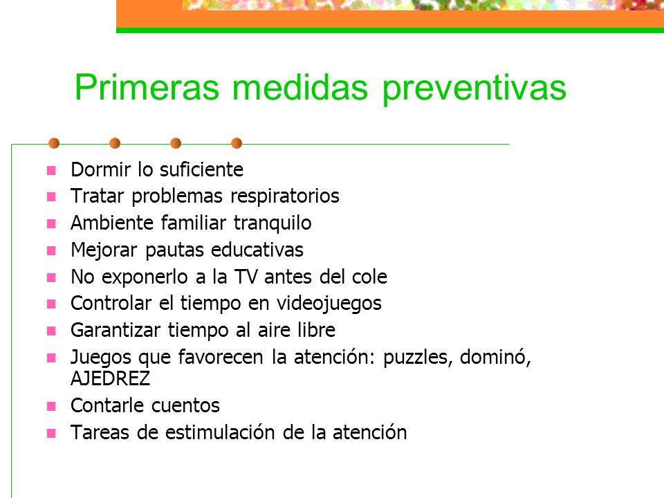 Primeras medidas preventivas