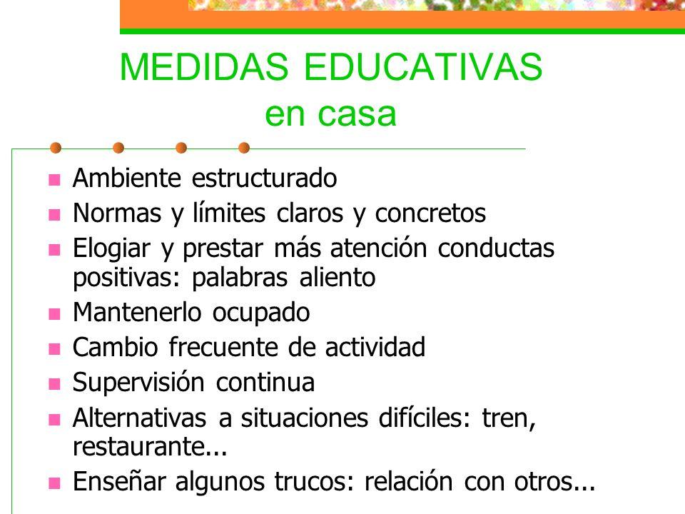 MEDIDAS EDUCATIVAS en casa