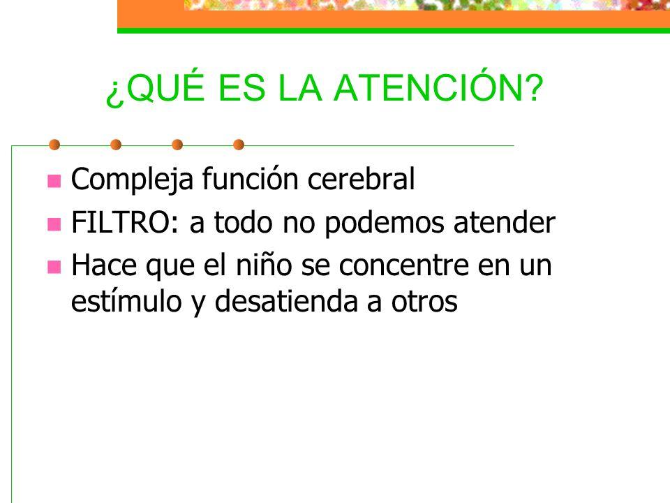 ¿QUÉ ES LA ATENCIÓN Compleja función cerebral