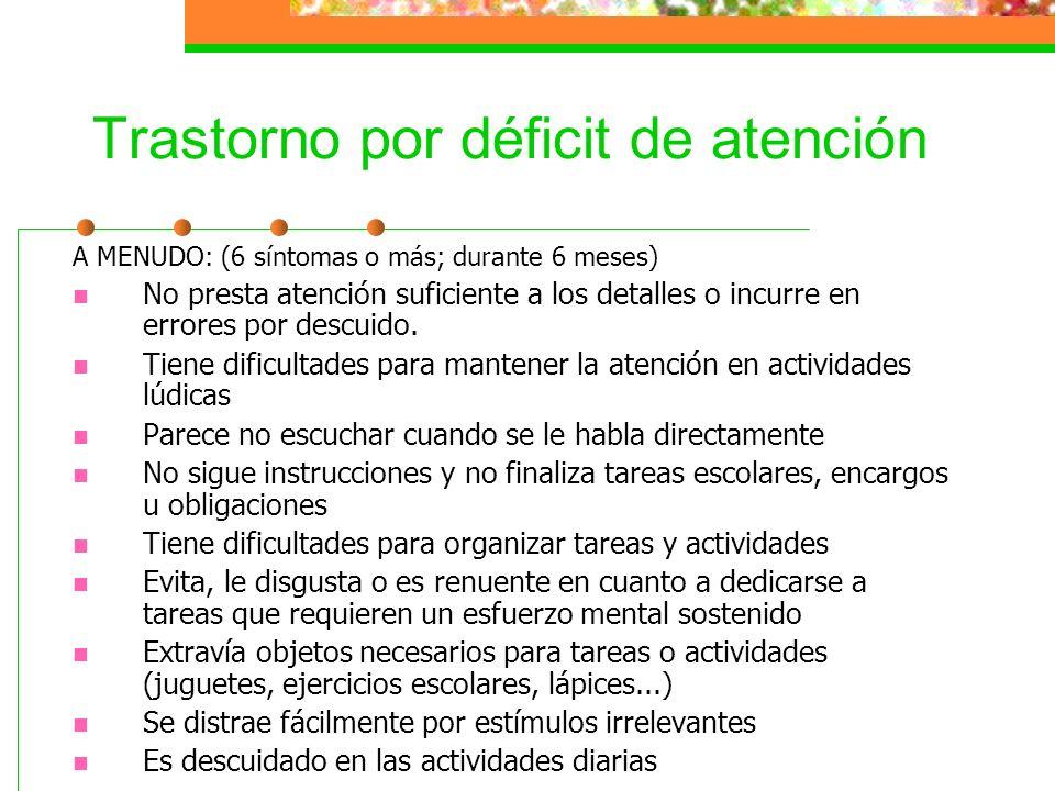 Trastorno por déficit de atención