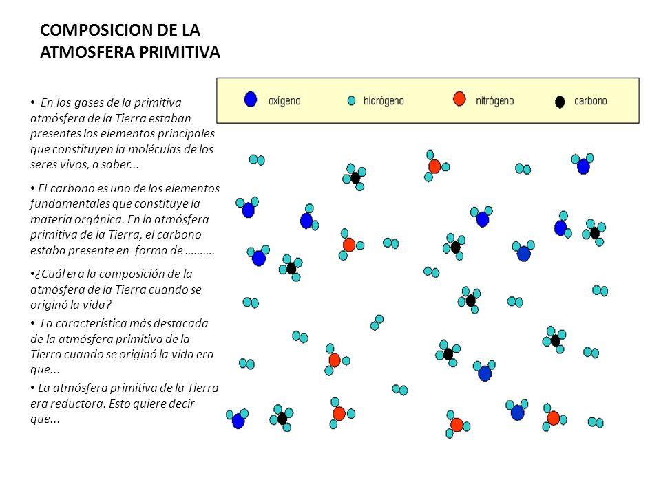 COMPOSICION DE LA ATMOSFERA PRIMITIVA
