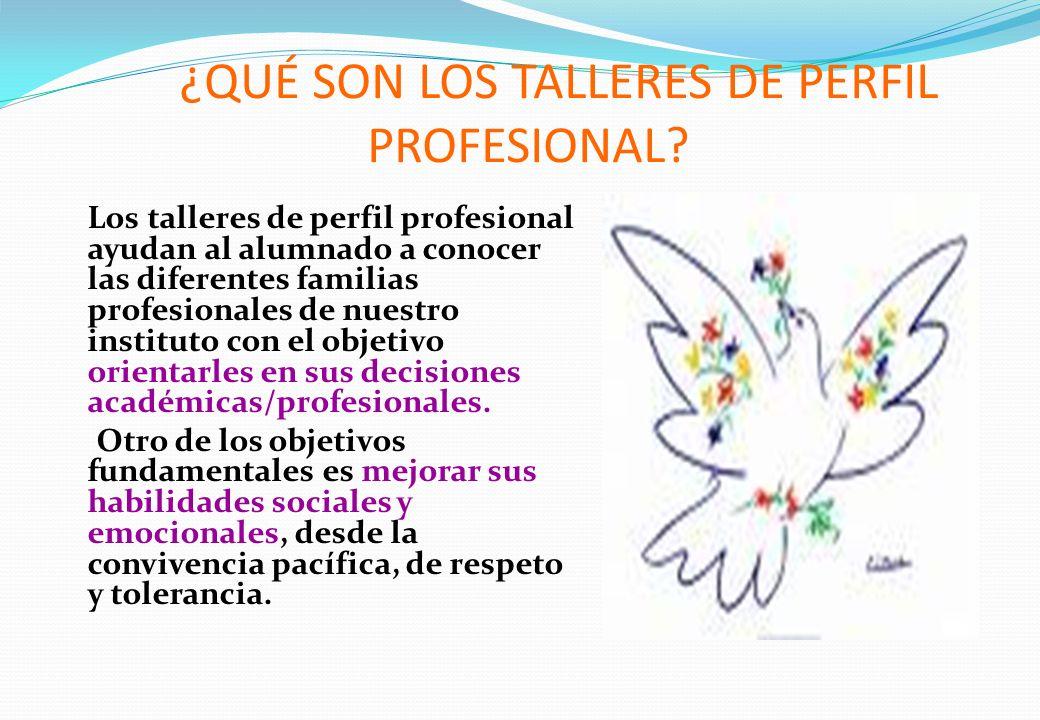 ¿QUÉ SON LOS TALLERES DE PERFIL PROFESIONAL