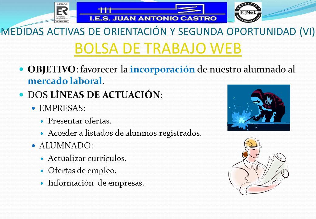 MEDIDAS ACTIVAS DE ORIENTACIÓN Y SEGUNDA OPORTUNIDAD (VI)