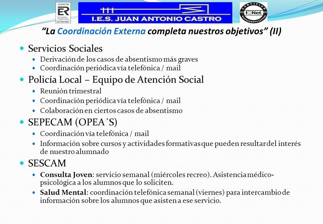 La Coordinación Externa completa nuestros objetivos (II)
