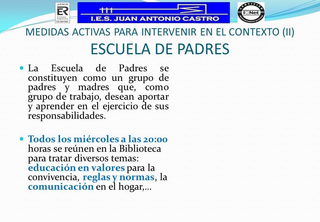 MEDIDAS ACTIVAS PARA INTERVENIR EN EL CONTEXTO (II)