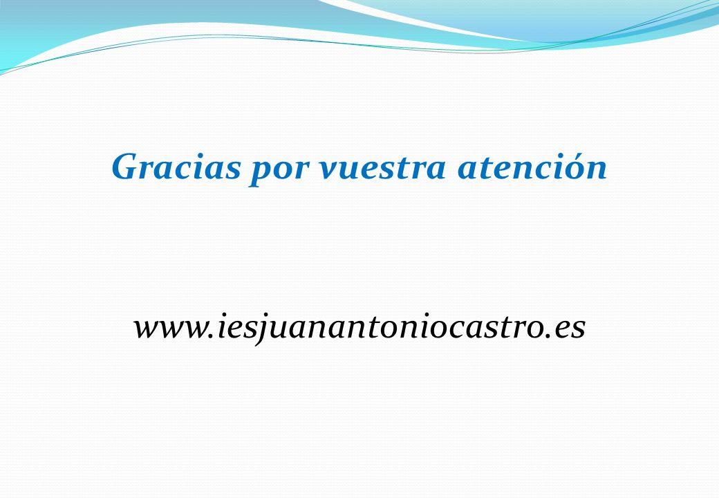 Gracias por vuestra atención www.iesjuanantoniocastro.es
