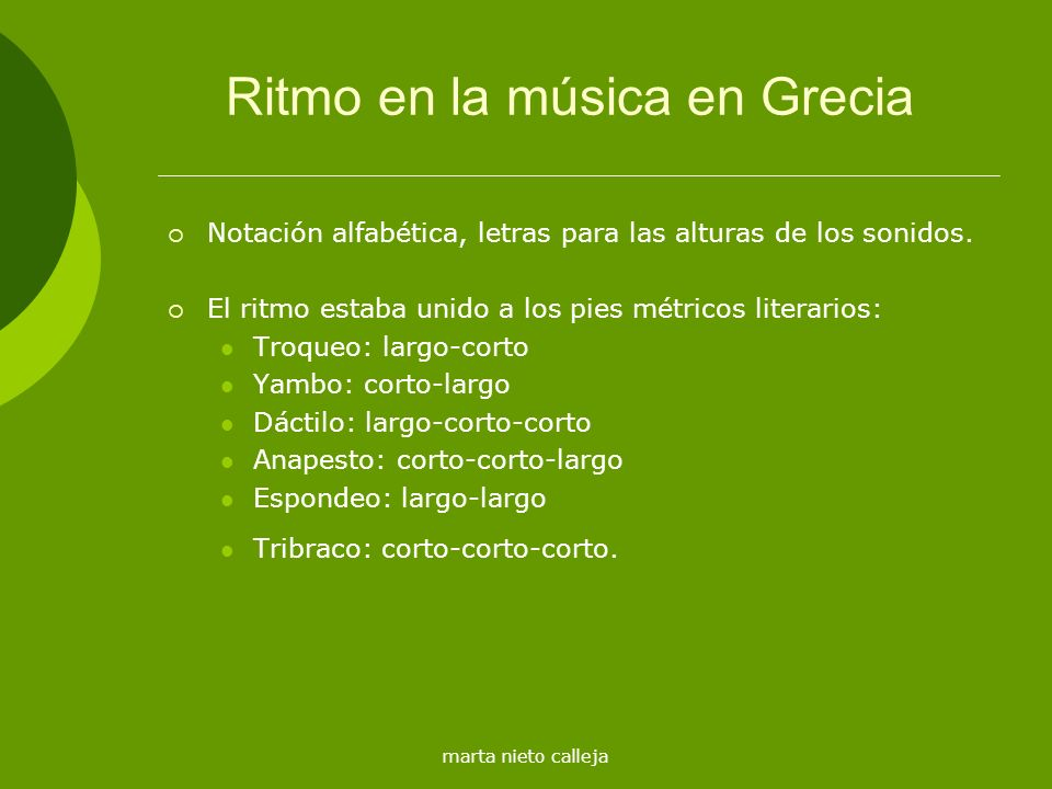 Ritmo en la música en Grecia