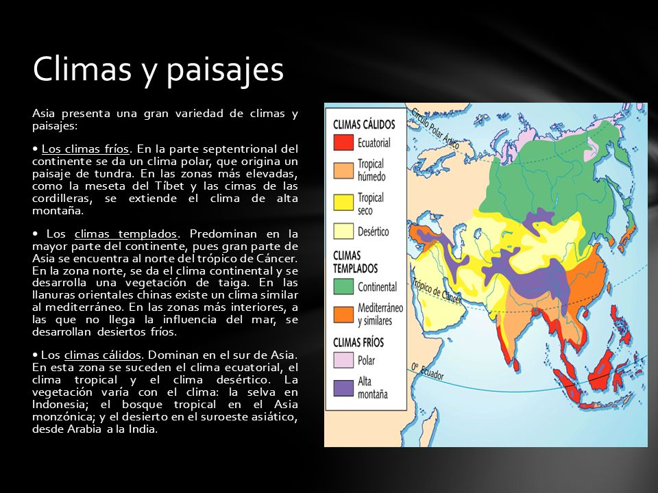 Climas y paisajes