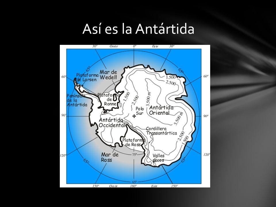 Así es la Antártida