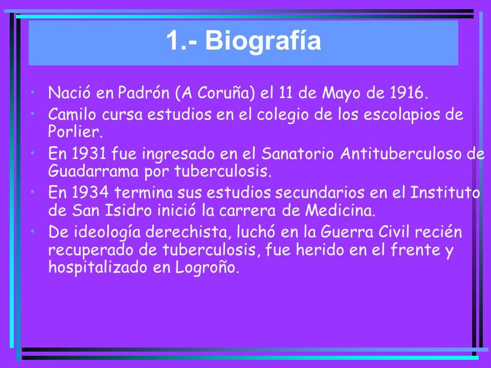 1.- Biografía Nació en Padrón (A Coruña) el 11 de Mayo de 1916.